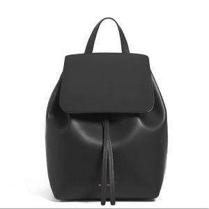 Mansur Gavriel Black Vegetable Leather Backpack